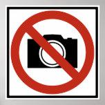 Ninguna muestra de la carretera de la fotografía impresiones