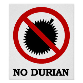 NINGUNA muestra de la fruta tropical del Durian Impresiones
