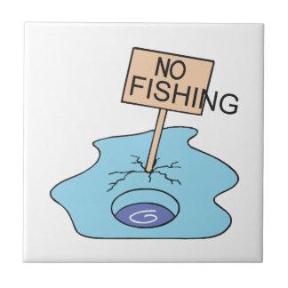 Ninguna muestra de la pesca azulejo ceramica