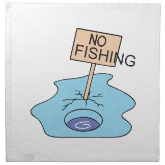 Ninguna muestra de la pesca servilletas de papel