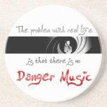 ¿Ninguna música del peligro? Posavasos Diseño