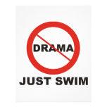 Ninguna nadada del drama apenas membrete personalizado