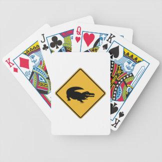 Ninguna natación - cocodrilos (1), muestra, baraja cartas de poker