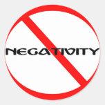 Ninguna negatividad etiquetas redondas