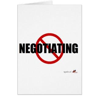 Ninguna negociación tarjeta de felicitación