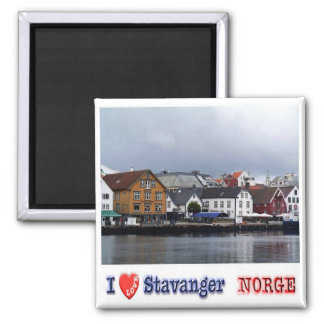 NINGUNA - Noruega - Stavanger - amor de I Imán Cuadrado