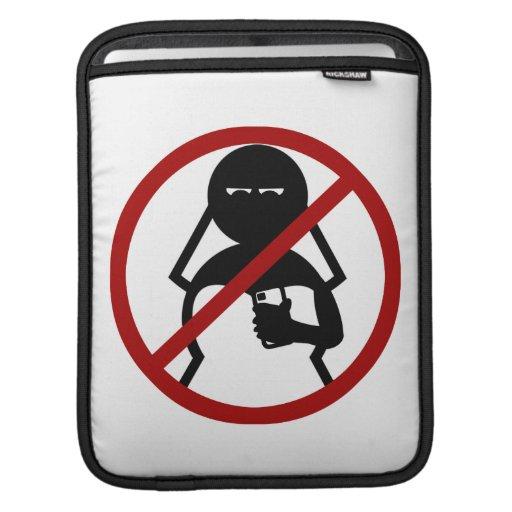 Ninguna novia del teléfono celular en el boda manga de iPad