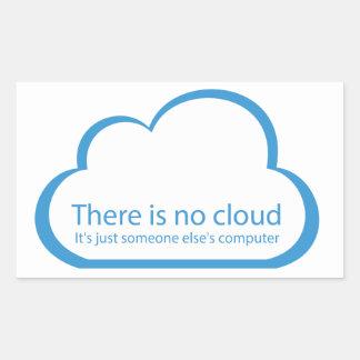 Ninguna nube pegatina rectangular