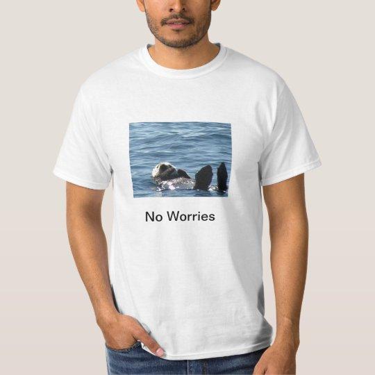 ninguna nutria de mar de las preocupaciones 1 playera