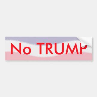 Ninguna pegatina para el parachoques de Donald Pegatina Para Auto