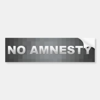 Ninguna pegatina para el parachoques de la amnistí pegatina para auto