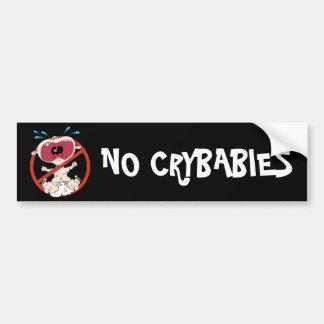 Ninguna pegatina para el parachoques de los Crybab Pegatina Para Auto