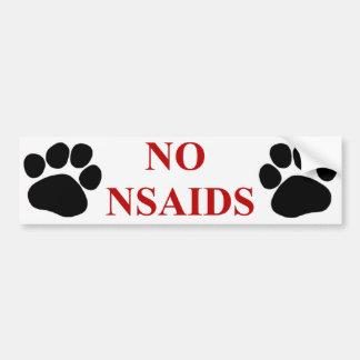 Ninguna pegatina para el parachoques de NSAIDS Pegatina Para Auto