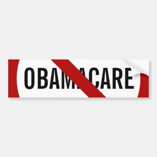 Ninguna pegatina para el parachoques de Obamacare Pegatina Para Auto