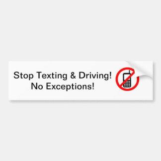 Ninguna pegatina para el parachoques de Texting Pegatina Para Auto