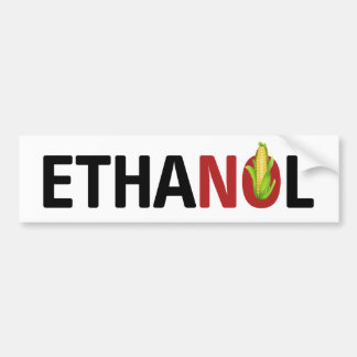Ninguna pegatina para el parachoques del etanol etiqueta de parachoque