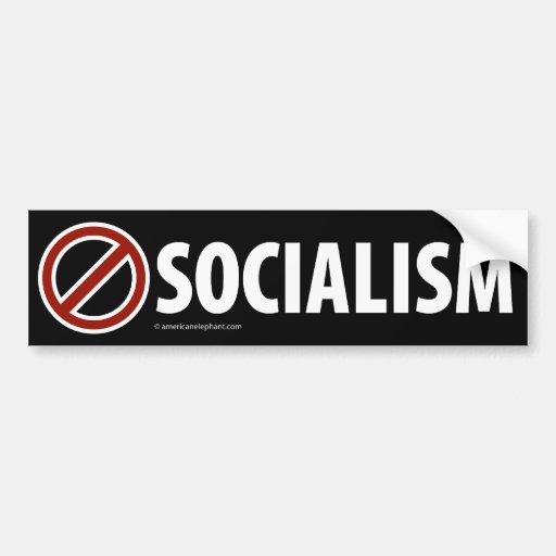 NINGUNA pegatina para el parachoques del SOCIALISM Etiqueta De Parachoque