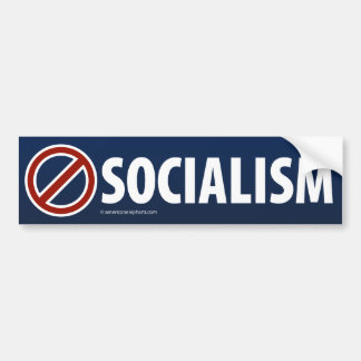 NINGUNA pegatina para el parachoques del SOCIALISM Pegatina De Parachoque