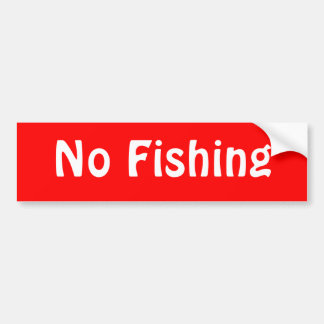 Ninguna pesca pegatina para auto