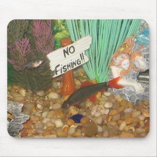Ninguna pesca tapete de raton
