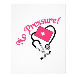 ¡Ninguna presión! Membrete A Diseño