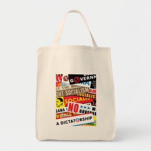 Ninguna propaganda socialista bolsa tela para la compra