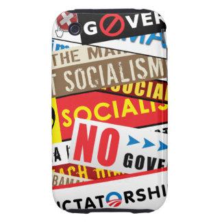 Ninguna propaganda socialista iPhone 3 tough protectores