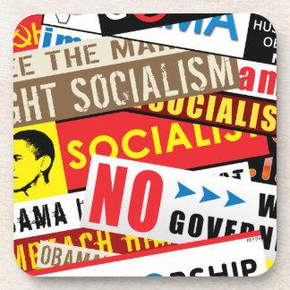 Ninguna propaganda socialista posavasos