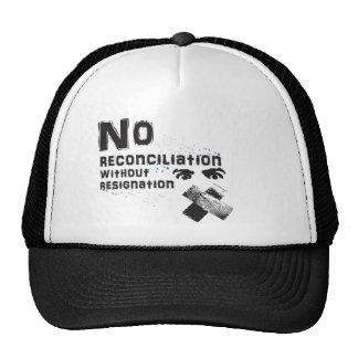 Ninguna reconciliación gorras de camionero