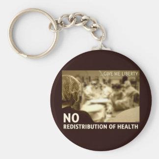 Ninguna redistribución de la salud llavero redondo tipo pin