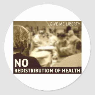 Ninguna redistribución de la salud pegatinas
