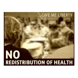 Ninguna redistribución de la salud tarjeta postal
