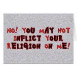 Ninguna religión felicitación