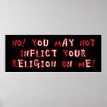 Ninguna religión impresiones