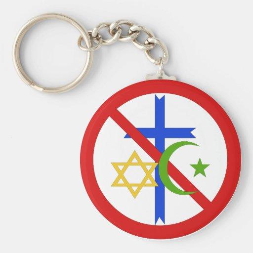 Ninguna religión llavero