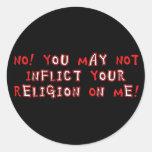 Ninguna religión pegatinas redondas