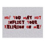 Ninguna religión tarjetas postales