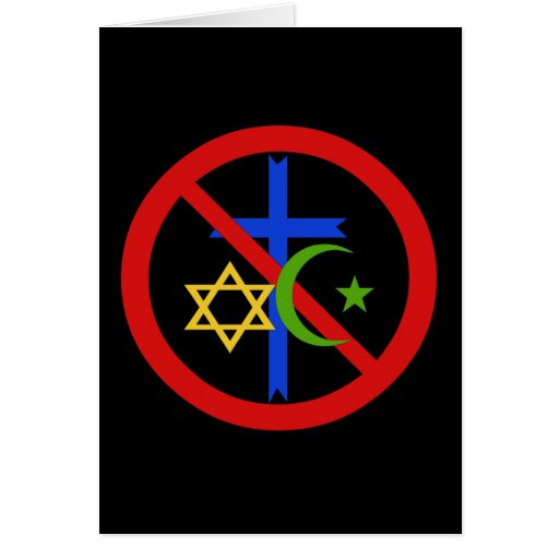 Ninguna religión tarjeton