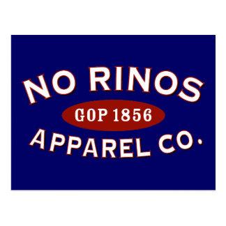 Ninguna ropa Co. de RINOs Tarjeta Postal