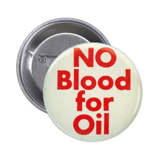 Ninguna sangre - botón pin redondo de 2 pulgadas