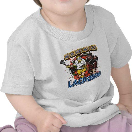 Ninguna sangre LaCrosse Camisetas