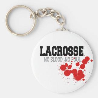 Ninguna sangre ningún regalo asqueroso de LaCrosse Llavero Redondo Tipo Pin