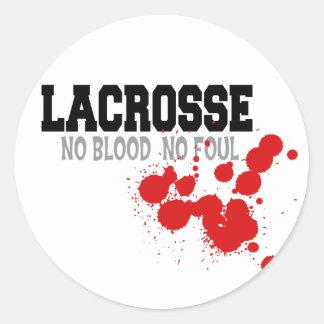 Ninguna sangre ningún regalo asqueroso de LaCrosse Etiquetas Redondas