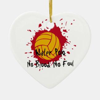 Ninguna sangre no asquerosa adorno navideño de cerámica en forma de corazón