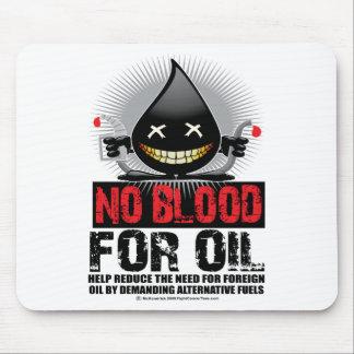 Ninguna sangre para el aceite alfombrillas de ratones