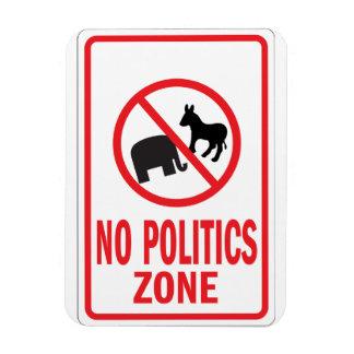 Ninguna señal de peligro de la zona de la política imán rectangular