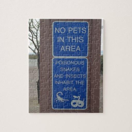 Ninguna señal de peligro del desierto de los masco puzzle con fotos