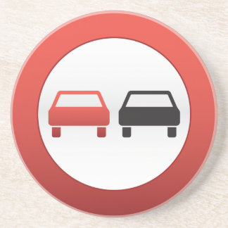 Ninguna señal de tráfico de paso posavasos de arenisca