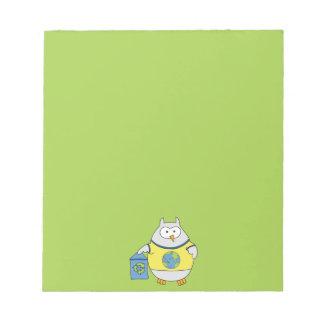 Ninguna sirena del contaminador bloc de papel