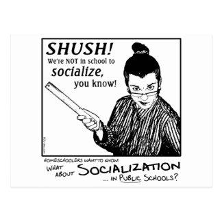 ¡Ninguna socialización! Tarjetas Postales